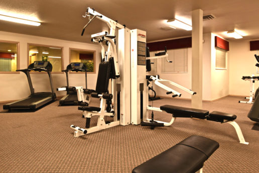 Fitness Center, cardio machines, weightlifting machines
