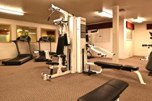 Fitness Center, cardio machines, weightlifting machines